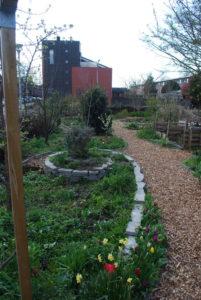 Een mooie spiraal tuin aan het stuiverpad in Delfgauw