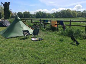 Tent in de zon in Groesbeek