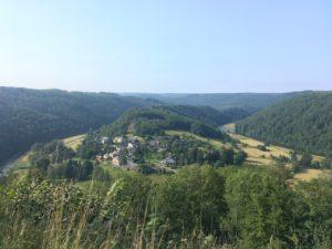 Uitzicht over de Semois vanaf Rochehaut